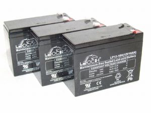 3 x Leoch LP12-10H - 12volt 10ah Rechargeable AGM Batteries